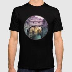 Ponte dei Sospiri | Bridge of Sighs - Venice (colored version) Mens Fitted Tee Black MEDIUM