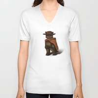 ewok V-neck T-shirts featuring Clint Ewok by Kirye