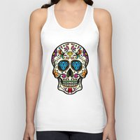 mexican Tank Tops featuring Mexican Skull by Pancho the Macho