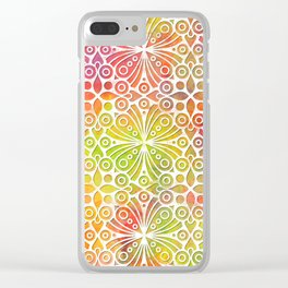 DP050-9 Colorful Moroccan pattern Clear iPhone Case