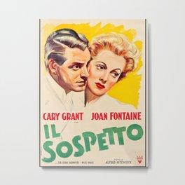 Vintage movie poster-Suspicion (1941) Metal Print