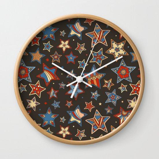 Doodle Stars Wall Clock