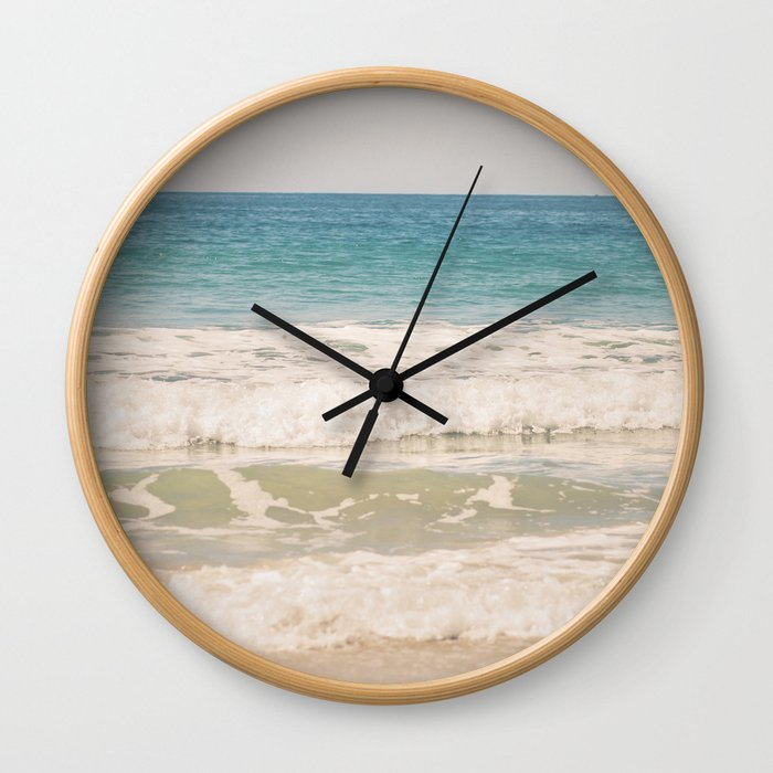 Beach Waves Wall Clock