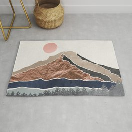 Mount Hood Oregon - Daylight Wilderness Rug
