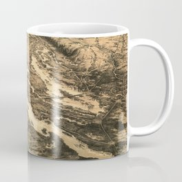 Vintage Ohio & Mississippi River Junction Map (1861) Coffee Mug