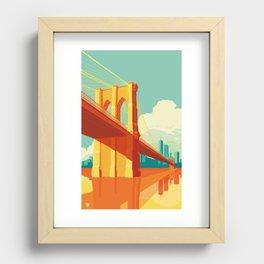 Brooklyn Bridge NYC Recessed Framed Print