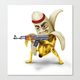Bananilla - the banana revolution Canvas Print