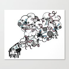 Piano Music Canvas Print