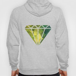 Abstract of triangles polygon in green yellow lime colors Hoody