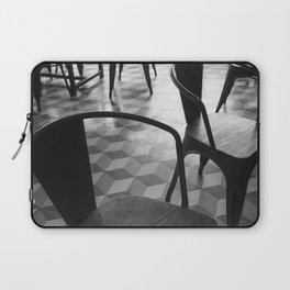 Vintage Parisian cafe - Black and white no people photography Laptop Sleeve