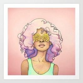 Flowered Sight Art Print