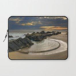 Windy Tarifa beach. Wild swiming pools. Laptop Sleeve