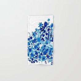Blue Floral Hand & Bath Towel