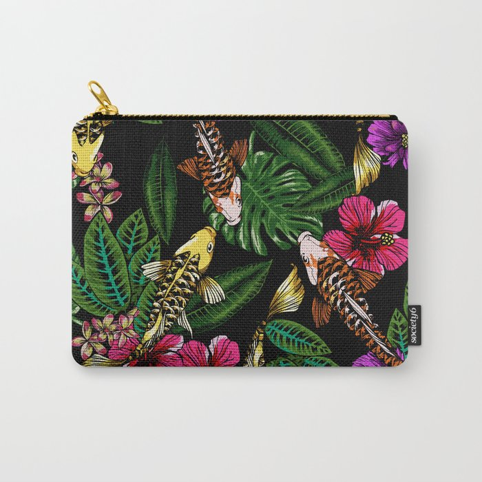 Tropical Koi Carry-All Pouch