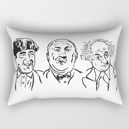 Stooges Moe, Curly and Larry Rectangular Pillow