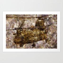 Grunge Dynamics 030 Chinook Art Print