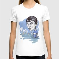 spock T-shirts featuring spock by ElenaTerrin