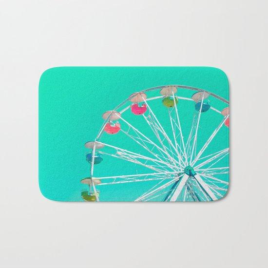 Minty Ferris Wheel of Happiness Bath Mat