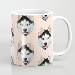 cute puppy husky dog pattern Coffee Mug