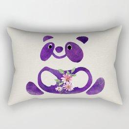 Cute  Purple Panda Bear with flowers Rectangular Pillow
