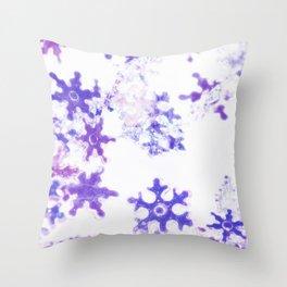 Icy Christmas Throw Pillow