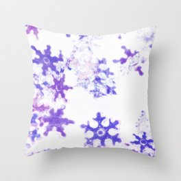 Icy Christmas Throw Pillow