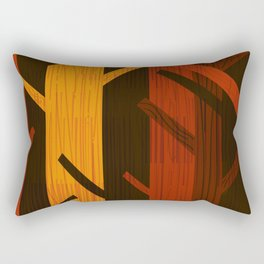 Retro Fall Woods by Friztin Rectangular Pillow