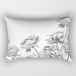 black and white peonies 2 Rectangular Pillow