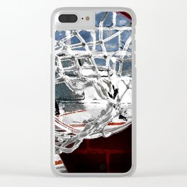 Basketball art swoosh vs 21 Clear iPhone Case