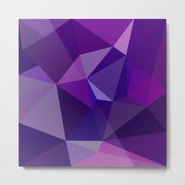 Geometric, polygonal Abstract background.  Metal Print