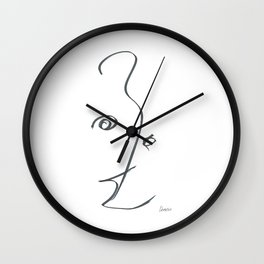 Demeter Moji d6 3-3 w Wall Clock