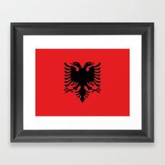 Flag Of Albania Framed Art Print