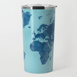 Vintage and distressed teal world map Travel Mug