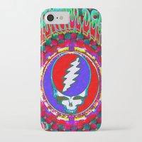 grateful dead iPhone & iPod Cases featuring Grateful Dead #10 Optical Illusion Psychedelic Design by CAP Artwork & Design