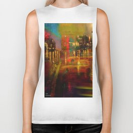 The yellow city of taxis Biker Tank