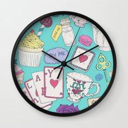 Alice's Tea Party Wall Clock