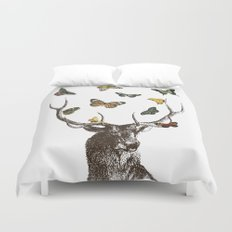 The Stag and Butterflies Duvet Cover