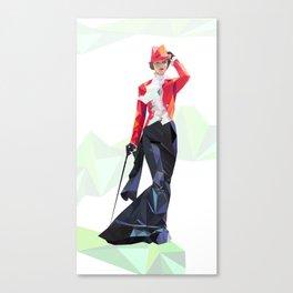 Polygone lady 1 Canvas Print