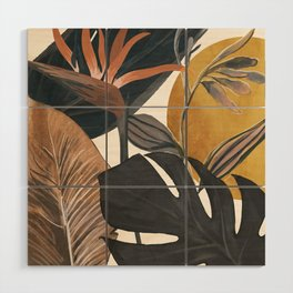 Abstract Tropical Art III Wood Wall Art