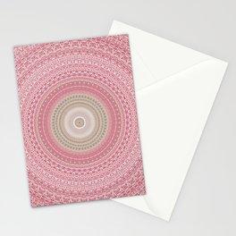 Gold Rose and Blush Boho Mandala Stationery Cards