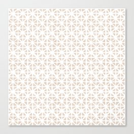 Carved Grid in Tan Canvas Print