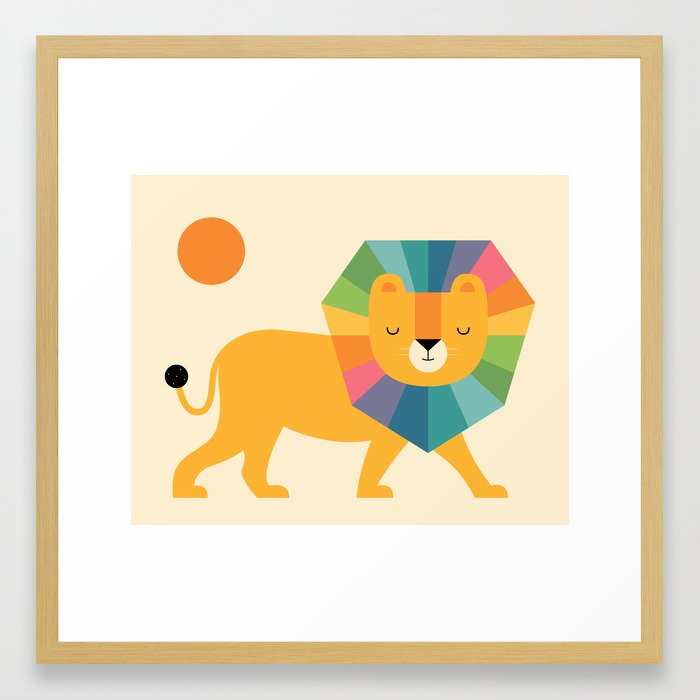 Lion Shine Framed Art Print