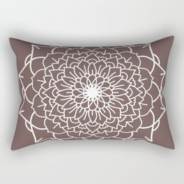 WHITE MANDALA Rectangular Pillow