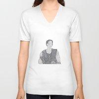 calcifer V-neck T-shirts featuring Du Riechst So Gut by Calcifer