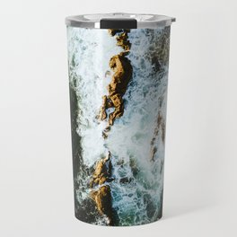 OCEAN - SEA - WATER - ROCKS - PHOTOGRAPHY Travel Mug