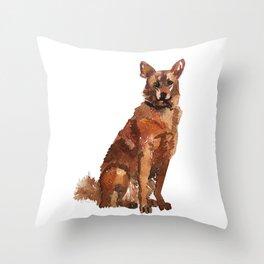 watercolor dog vol 7 sheppard Throw Pillow