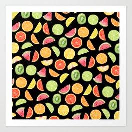 Night Fruit Salad Art Print