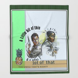 """A Little bit of this & a Whole Lot of That"" - Psych Quotes Throw Blanket"