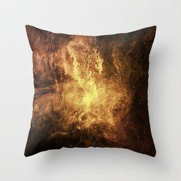 The Burning Throw Pillow