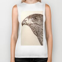 hawk Biker Tanks featuring Hawk by Leslie Creveling